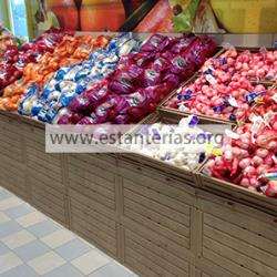 Expositor frutas efecto madera