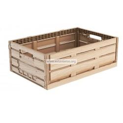 Caja plegable efecto madera 60 x 40 x 18 cms