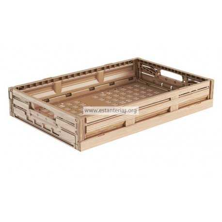 Caja plegable efecto madera 60 x 40 x 11