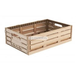 Caja plegable efecto madera 60 x 40 x 16 cms