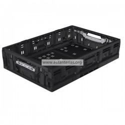 Caja plegable negro 60 x 40 x 13