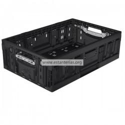 Caja plegable negro 60 x 40 x 18