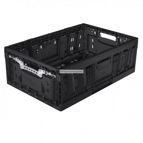 Caja plegable negro 60 x 40 x 20,8