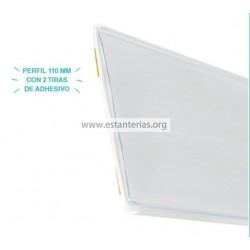 Perfil Adhesivo Blanco 2 tiras