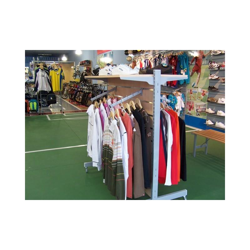 Estanteria para ropa estantera con en dm blanco - Estanterias para ropa ...