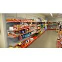Estanterias para Supermercado Gris-Rojo