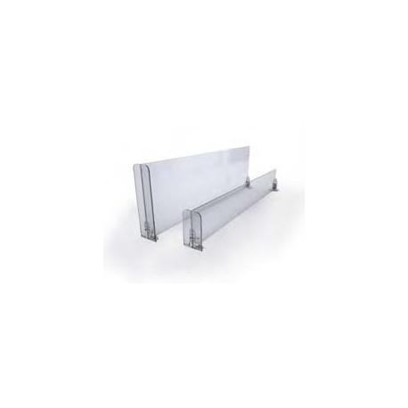 Separador de estante con frontal central