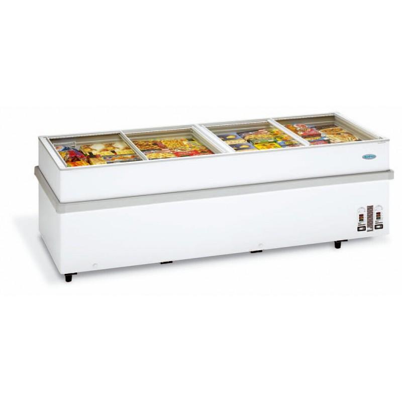 Congelador horizontal supermercado glass top de 200 chv 900 - Congelador de arcon ...