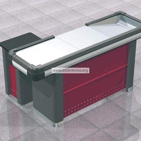 Mueble caja supermercado recto 150 cms for Mueble caja registradora