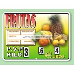 Portaprecios para fruta